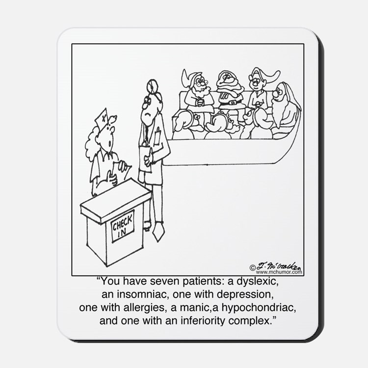 7 Patients W/ 7 Symptoms Mousepad
