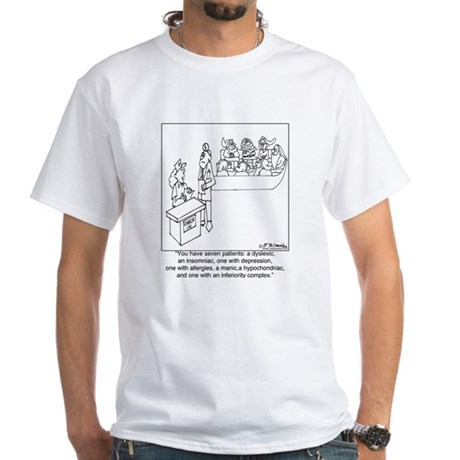 7 Patients W/ 7 Symptoms White T-Shirt