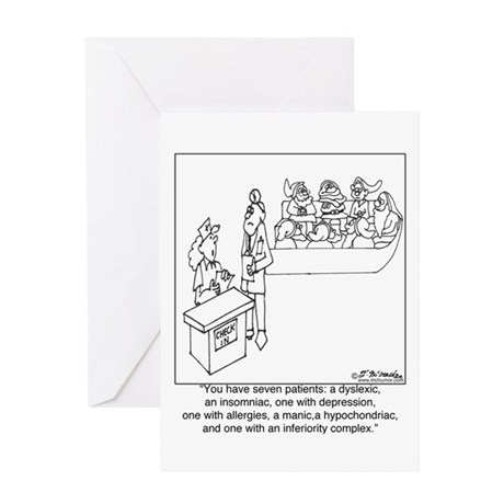 7 Patients W/ 7 Symptoms Greeting Card