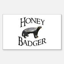 Honey Badger Sticker (Rectangle)