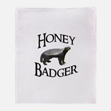Honey Badger Throw Blanket