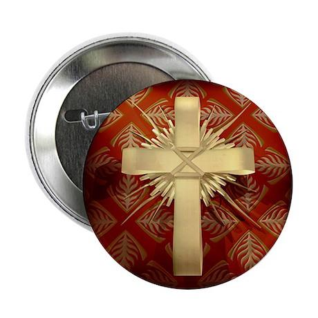 "Palm Sunday Cross 2.25"" Button (100 pack)"
