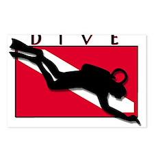 Unique Scuba diving Postcards (Package of 8)