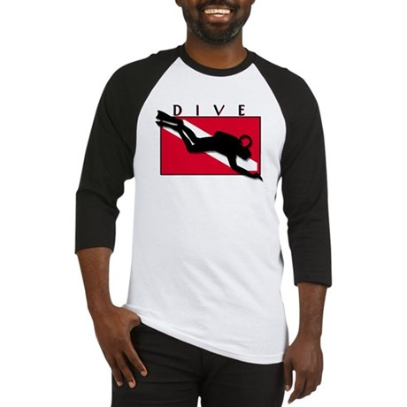 diver down-dive-blank type Baseball Jersey