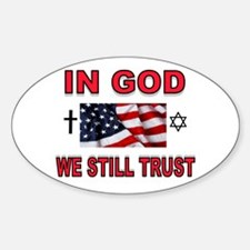 TRUST IN GOD Sticker (Oval)