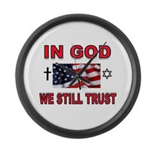 TRUST IN GOD Large Wall Clock