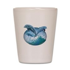 Waves of Dolphins Shot Glass