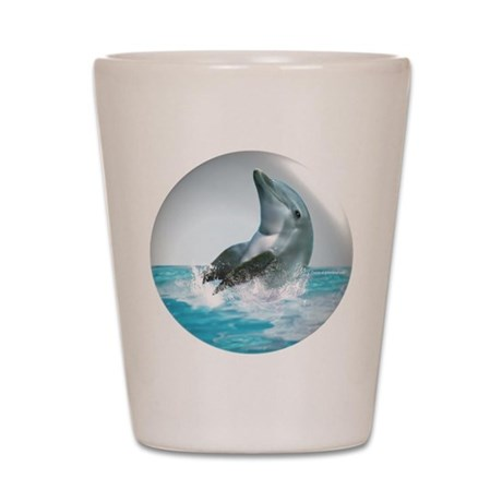 Bubble Dolphin Shot Glass