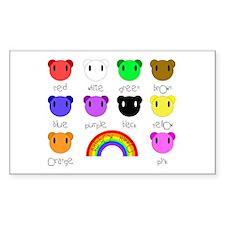 Rainbow Hippo Rectangle Decal