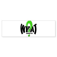 Radio WHAT White Bumper Sticker