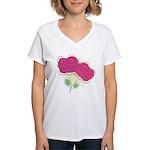 ROSES DECOR Women's V-Neck T-Shirt