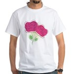ROSES DECOR White T-Shirt