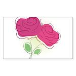 ROSES DECOR Sticker (Rectangle 50 pk)