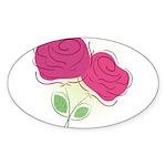 ROSES DECOR Sticker (Oval 10 pk)
