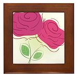 ROSES DECOR Framed Tile