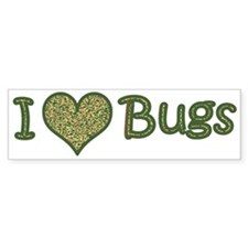 I LOVE BUGS BUMPER STICKER