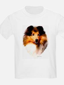 """Sheltie Headstudy"" Kids T-Shirt"