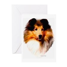 """Sheltie Headstudy"" NoteCards (Pk of 10)"