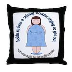 Skinny Funnys Throw Pillow