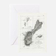 Guam 1819 Map Greeting Card