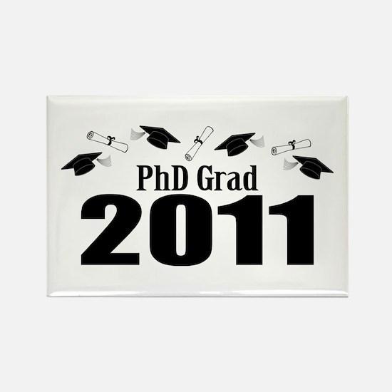 PhD Grad 2011 (Black Caps And Diplomas) Rectangle
