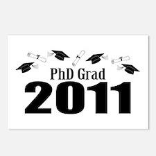 PhD Grad 2011 (Black Caps And Diplomas) Postcards