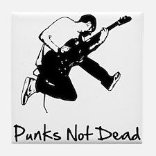 Punks Not Dead Tile Coaster