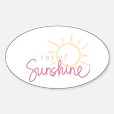 Ray of Sunshine Oval Decal