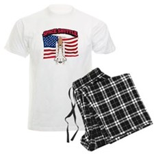 Space Shuttle and Flag Pajamas