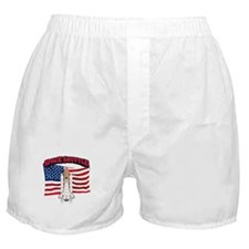 Space Shuttle and Flag Boxer Shorts