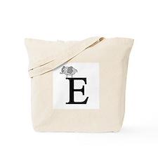 Letter E for Elephant Tote Bag