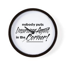 Insurance Nobody Corner Wall Clock