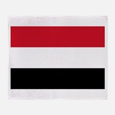 Republic of Yemen Flag Throw Blanket