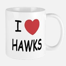 I heart hawks Mug