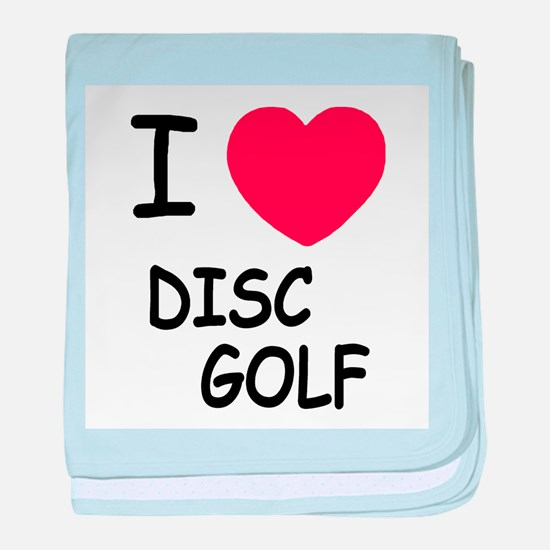 I heart disc golf baby blanket