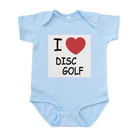 I heart disc golf Infant Bodysuit