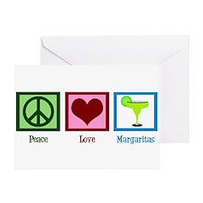 Peace Love Margaritas Greeting Card