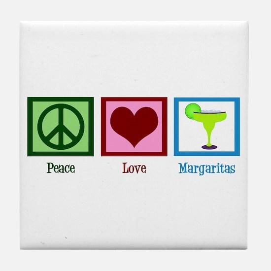 Peace Love Margaritas Tile Coaster