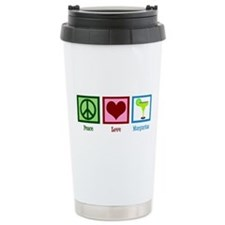 Peace Love Margaritas Travel Mug