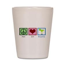 Peace Love Margaritas Shot Glass