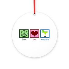 Peace Love Margaritas Ornament (Round)