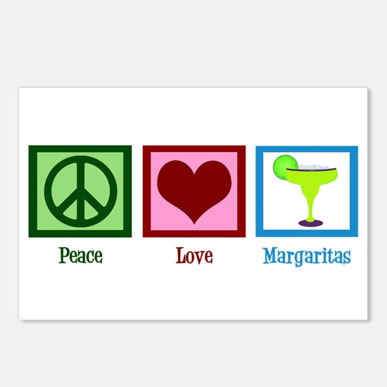 Peace Love Margaritas Postcards (Package of 8)