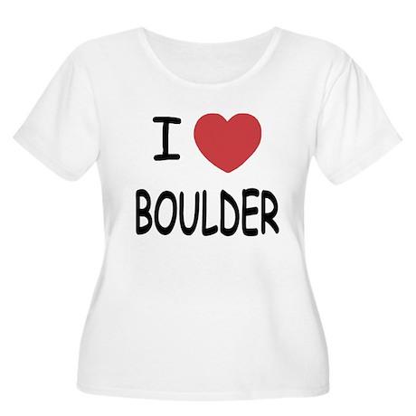 I heart Boulder Women's Plus Size Scoop Neck T-Shi