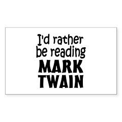 Mark Twain Sticker (Rectangle)