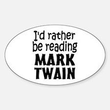 Mark Twain Sticker (Oval)