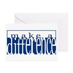 Make a Difference - 4 styles Greeting Cards (Packa