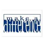 Make a Difference - 4 styles Postcards (Package of