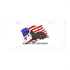 Australian Shepherd Dog USA Aluminum License Plate