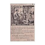Victorian Woolen Yarn Ad Mini Poster Print