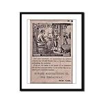 Victorian Woolen Yarn Ad Framed Panel Print